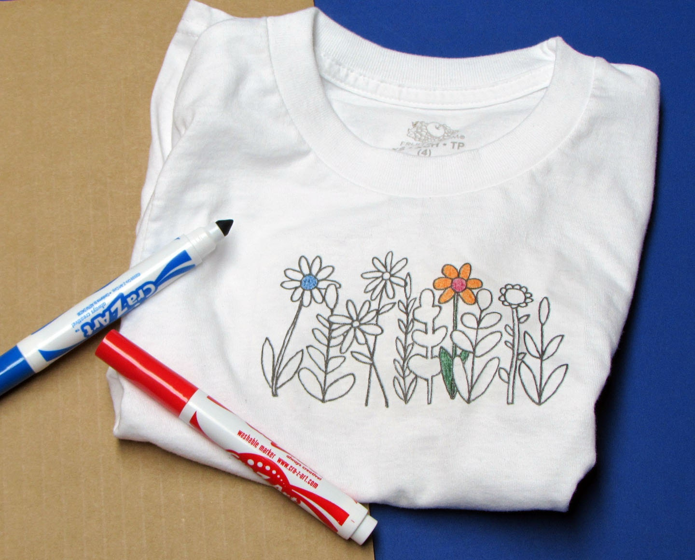 Coloring book, Coloring shirt, t shirt, color shirt, girl gift ...