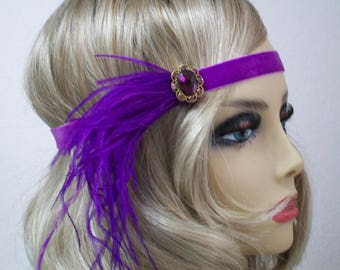 Purple 1920s headband, Flapper headpiece, Gatsby headband, Infinity headband, 1920s hair accessory, Vintage inspired, 1920s Event
