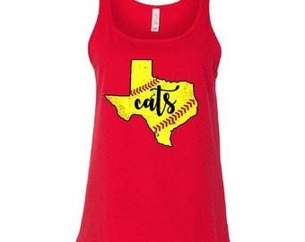 Softball, Texas, Custom shirt, Tank, Ladies tanks, Texas Tank