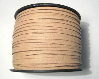 15ft Brown Faux Suede Cord 3mm Jewelry Supplies( No.016)