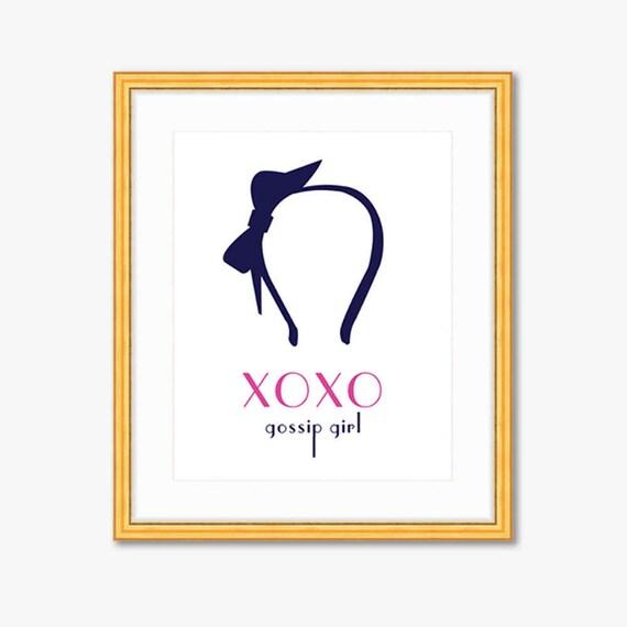 Xoxo Gossip Girl Quote Print Home Decor