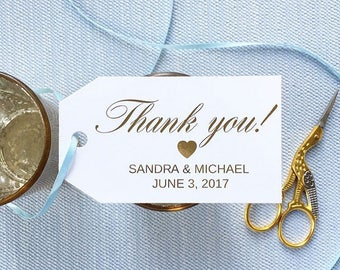 Personalized gold foil gift tag / gold foil favor tag /gold foil thank you tag/ custom gift tag / personalized gift tag/ wedding favor tag