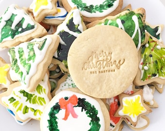 Personalized Acrylic Christmas Cookie / Frosting / Fondant Stamp