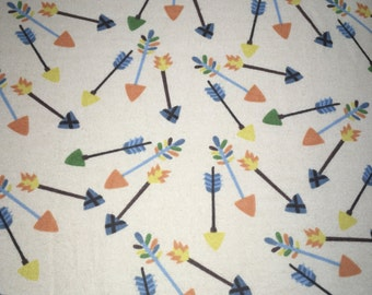 Arrows Flannel Crib Sheet