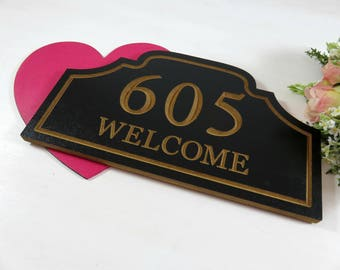 Address Plaque - Home Number Plaque - Address Number Sign - Black Address Sign - Outdoor Decor - New Home Gift - Personalized Address - Gift