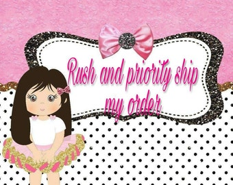 Rush and Priority Ship my order.