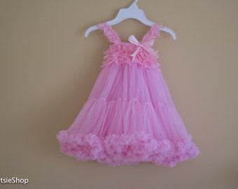 Pink Lace Chiffon Dress, Toddler Lace Dress, Lace Dress, Vintage Lace Dress, Special Occasion Girl Dress, Tutu Dress, Birthday Dress