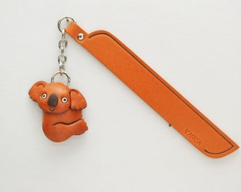 Koara Leather Charm Bookmark/Bookmarks/Bookmarker *VANCA* Made in Japan #61224 Free Shipping
