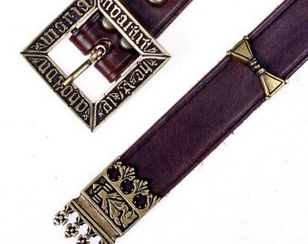 Medieval belt in 3 cm width with straps and fittings - [10 MA 3:C ZN]