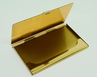 "Brass; Business Card Holder; Approx. 3.5L x 2.25w; Fits Standard 2""x 3.5"" Business Cards !!!"