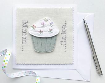 Mmm Cake Cupcake Card - Cake Birthday Card - Cake Thank You Card - Cake Card - Cupcake Card - Cake Kitchen Decor - Keepsake