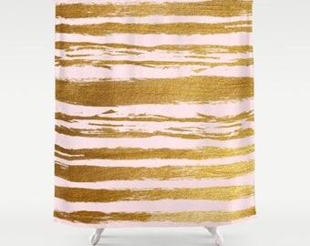 Pink and Gold, Girls Shower Curtain, Pink Shower Curtain, Tween Girls, Teen Room Decor, Bathroom Decor, Teen Girl Gifts, Girls Bathroom