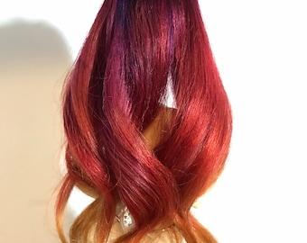 Fire Doll Wig MSD SD 1/4 1/3 Human Hair 5-6 6-7 8-9