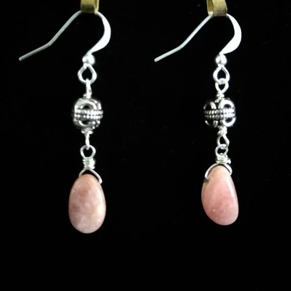 Rhodocrosite Dangle Earrings E6151762