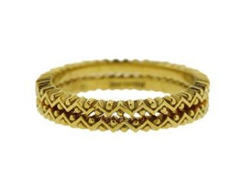 Hidalgo Stacking Zigzag Bands - Size 7.5 - 18K Yellow Gold