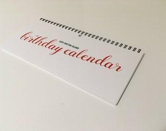 Cape Breton Island Perpetual Birthday Calendar, Wall Calendar, Planner, Family birthdays, Scenic Imagery