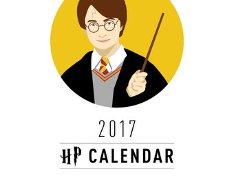 Reduced Price!! Harry Potter 2017 Calendar, HP Calendar, Harry Potter Calendar, Harry Potter 2017, Harry Calendar