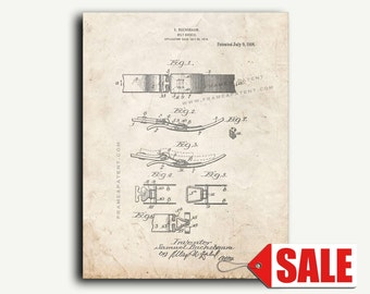 Patent Print - Belt-buckle Patent Wall Art Poster