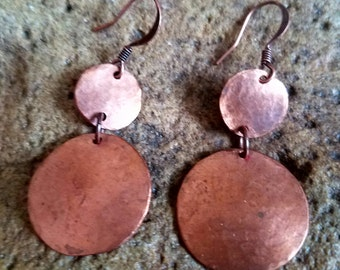 Hammered Copper Dangles
