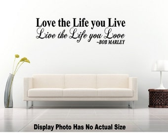 Love the Life you live Live the life you love Inspirational Saying Wall Quote Vinyl Decal Sticker Mirror Living Room Home Decor