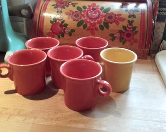 Fiesta ware Mugs Homer Laughlin Persimmon