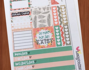 Pastel Boho Mini Kit - Planner Stickers - For the mini Happy Planner, personal planners, horizontal planners
