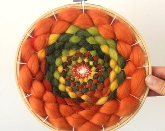 Circular woven hand-made work of art 20 cm