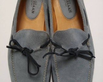 Cole Haan Country suede loafers | driving shoes | vintage loafers | retro loafers | size 7 1/2 B | made in Brazil | blue suede shoes