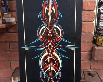 Pinstripe Cavas Panel
