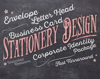 STATIONERY DESIGN - Business Card - Letter Head - Envelope Design - Custom Made