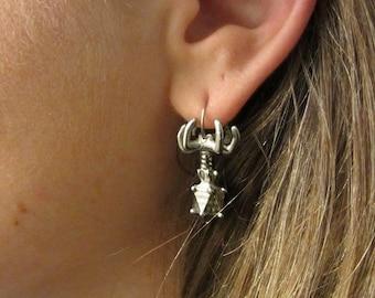 Bacteriophage Earrings - Virus Earrings, Microbiology, Cell Biology, Virus Jewelry, Phage, Biology Jewelry
