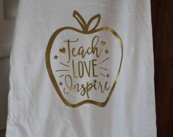 Teach, love, inspire racerback tanks!