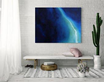 Abstract Canvas Art, Blue Abstract Art, Art Print, Canvas Print, Oil Panting, Home Decor, Wall Decor, Abstract Art Print, Wall Art