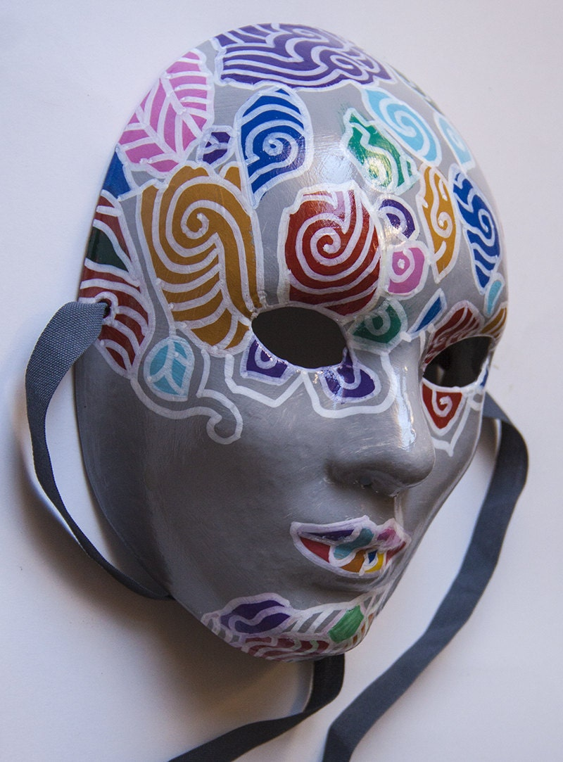 Face Painted In Patches With Arrylic