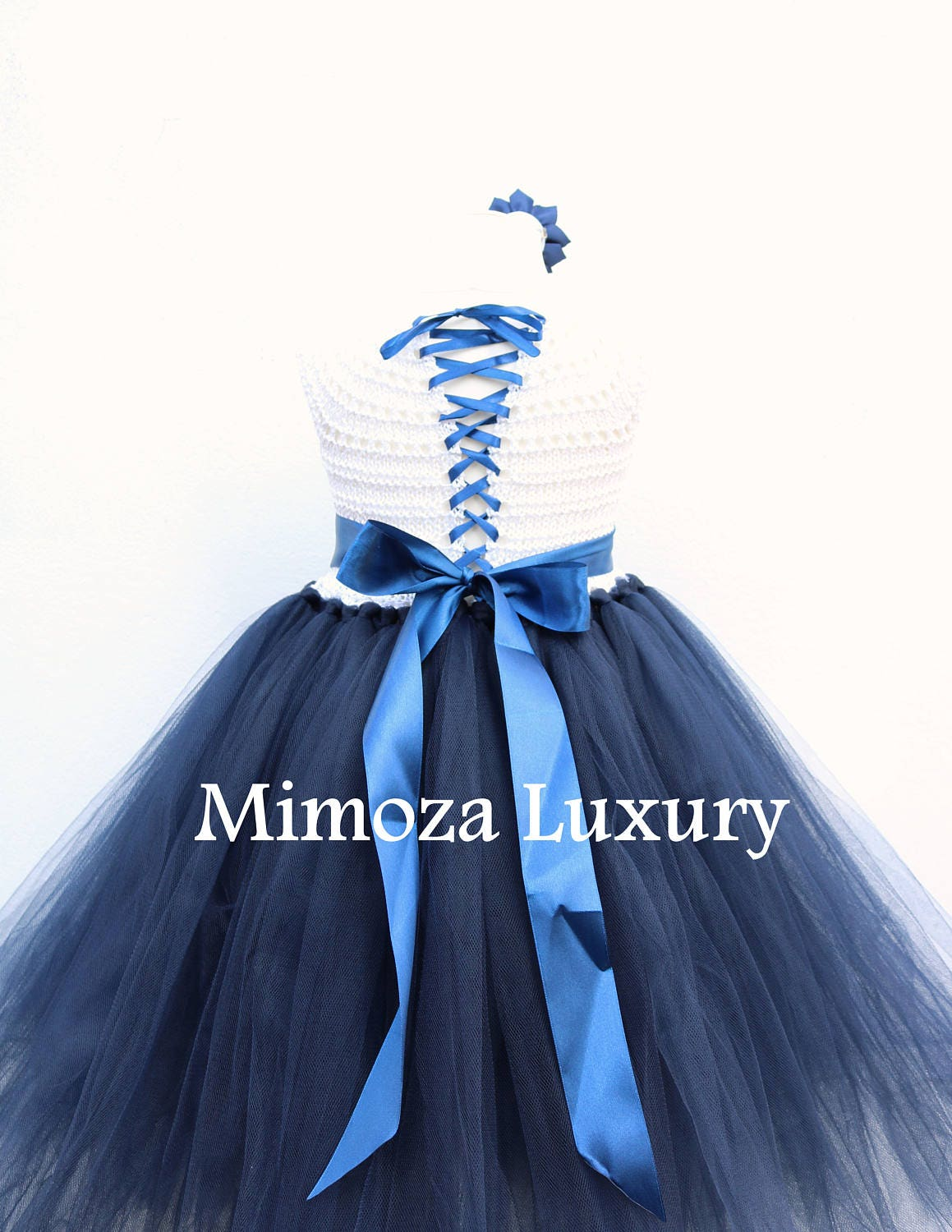 Navy white flower girl dress white and navy tutu dress navy blue navy blue princess dress white navy wedding gallery photo gallery photo ombrellifo Image collections