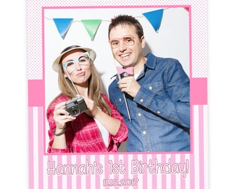 1st Birthday Selfie Prop | First Birthday Girl Prop | Birthday Frame | Photo Booth Selfie Cutout | 1st Birthday Prop | Photobooth Prop