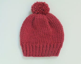 Pink Cozy Knit Hat