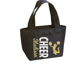 Cheer Girl Lunch and Snack Tote