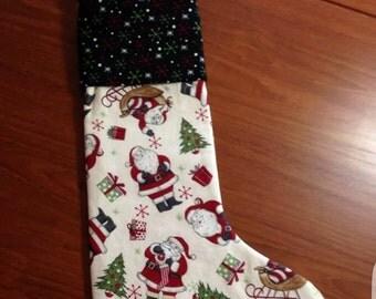 Jolly Santa Christmas Stocking