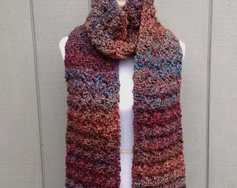 Super scarf - Chunky long scarf - Crochet traditional scarf - Womens bulky scarf - Gift for women