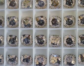 1 ~ 12mm 4470 Rose Patina Swarovski Crystal Square Cushion Cut Stone 4470 12mm