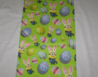 """Easter Eggs and Bunny  13"""" x 72"""" Table Runner"""