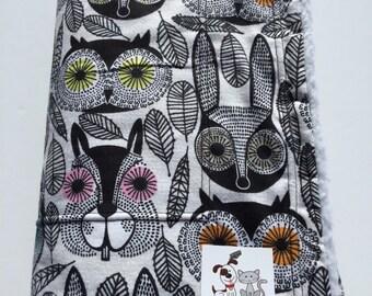 Owl Blanket, Puppy Bedding, Gift for Owl Lover, Made in Colorado, Stroller Blanket,  Dog Kennel Cover, Pet Blanket, Crate Bedding, Dog Bed