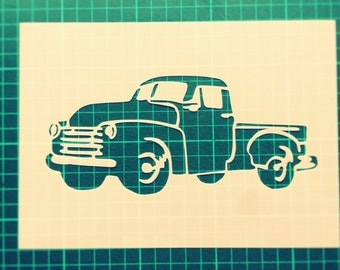 Vintage Truck STENCIL for home wall interior decor / Vintage American Car