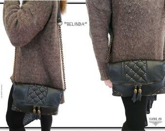 "mon "" Belinda ""     *Clutch   *pochette   *handbag  *leather"