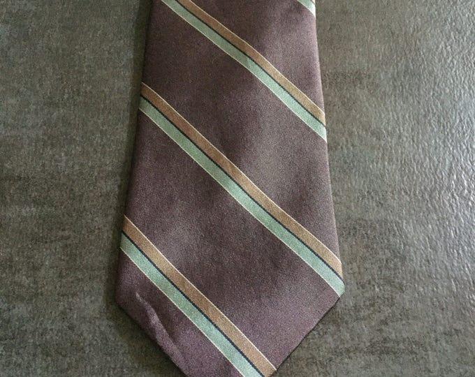 Vintage Estate AUTHENTIC Christian Dior Purple Blue Tan Tie