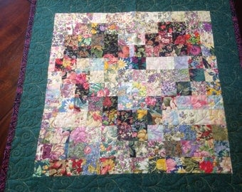 Color-wash Heart Wall-quilt