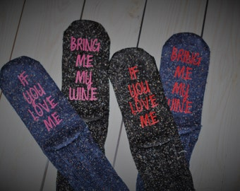 Wine socks, wine sayings, gifts under 15, gift for her, wine socks for women, wife, girlfriend, bring me wine, valentines day, mothers day