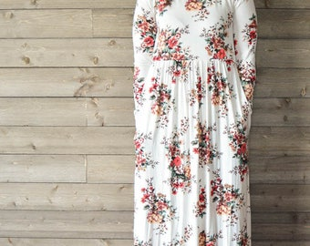 White Countess Floral Maxi Dress