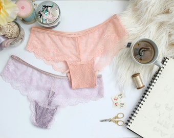The Ultimate Lace Panties Sewing Pattern DIY Thong and Hipster Panty Pattern Instant Download PDF By Oh Lulu